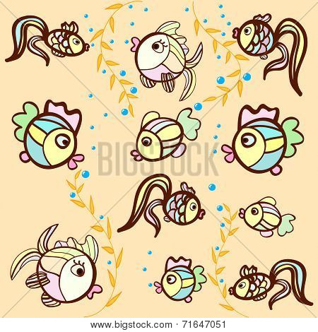 Fish On A Beige Background