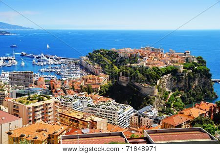 View Of The Harbor And Prince's Palace Of Monaco