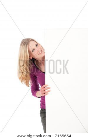 Woman With Space For Text