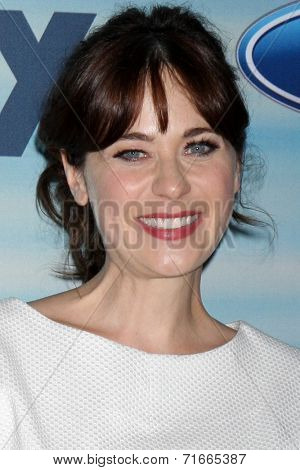 LOS ANGELES - SEP 8:  Zooey Deschanel at the 2014 FOX Fall Eco-Casino at The Bungalow on September 8, 2014 in Santa Monica, CA