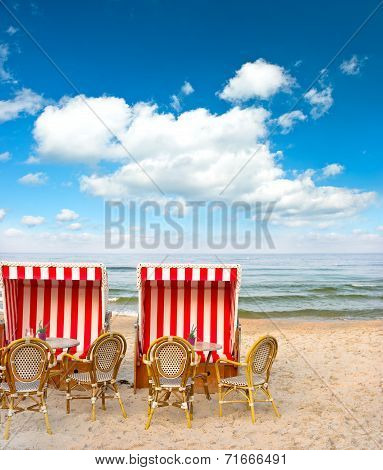 Typical Beach Cafe On The Baltic Sea