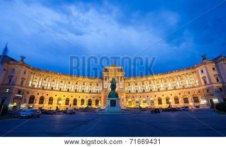 Hofburg Imperial Palace At Night, Vienna