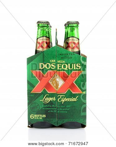 Dos Equis Lager 6Pk End View