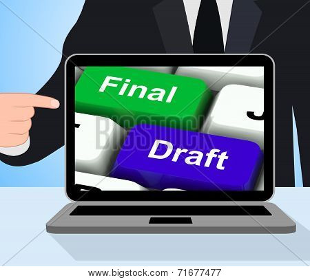 Final Draft Keys Displays Editing And Rewriting Document