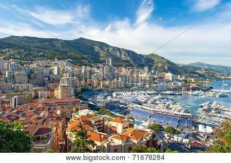 View Of Monaco Harbor Prepared For Formula 1 Grand Prix De Monaco