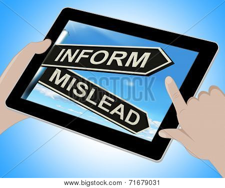 Inform Mislead Tablet Means Advise Or Misinform