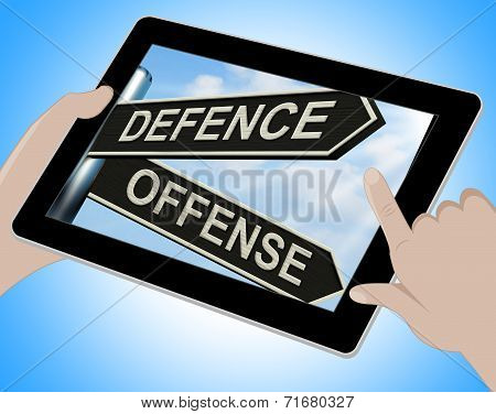 Defence Offense Tablet Shows Defending And Tactics