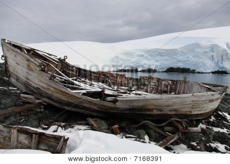 old rowing boat