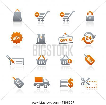 Shopping // Graphite Icons Series
