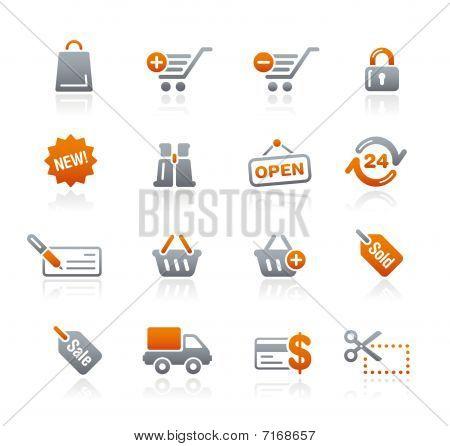 Shopping // Graphite Icons Series