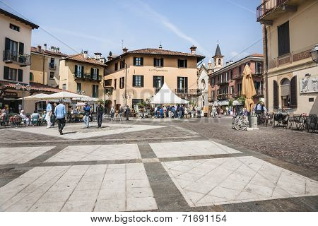Typical Italian town square.