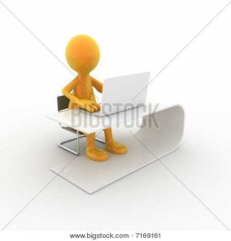 Working On The Computer