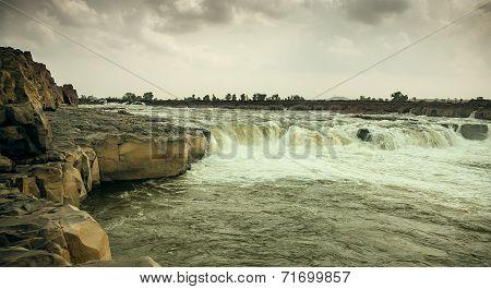 Panoramic view of beautiful river
