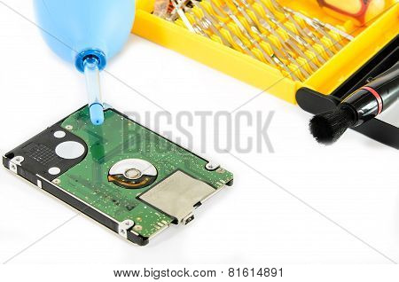 Cleaning Hard Disk.
