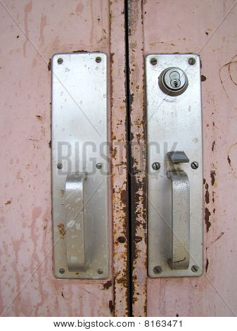 Old Rusted School Doors