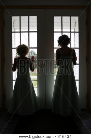 Bridesmaid at Window