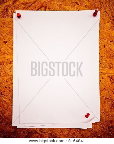 White Paper On A Board