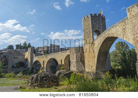 Fortified Stone Bridge Entrance To Besalu