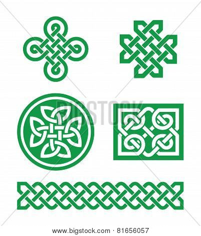 Celtic knots, braid patterns - St Patrick's Day