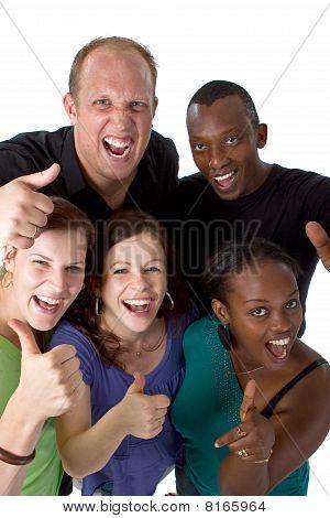 Young Fresh Multiracial Group
