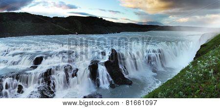 Waterfall in Iceland. Gullfoss.