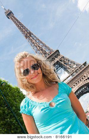 Happy Woman In Paris