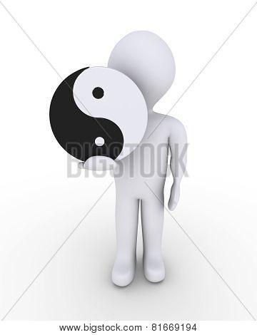 Person Holding Yin-yang Symbol