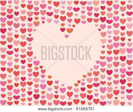 Saint Valentines Day Heart Frame