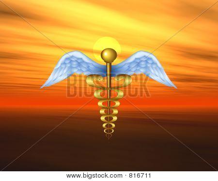 Medical Symbol On Nature Background