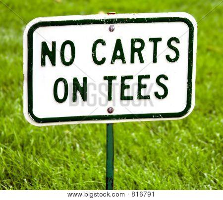 Golf No carts on tees