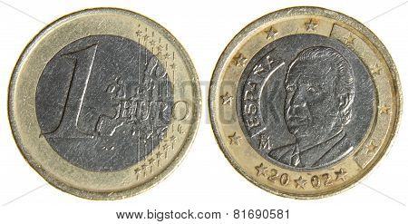 Old Worn Euro Dollar Coin