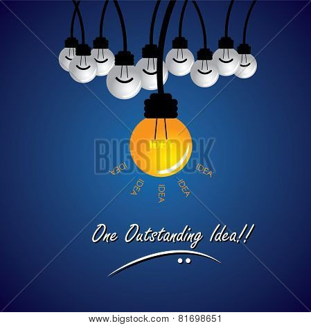 concept vector of stand out idea winning solution. This also represents being different thinking differently taking new path individuality creativity boldness enterprise entrepreneur thinking poster