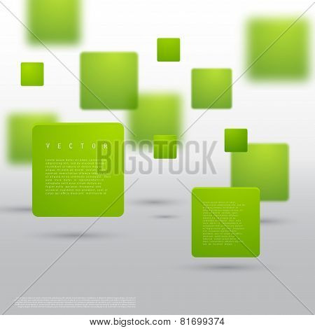 Vector Abstract geometric shape from green cubes.