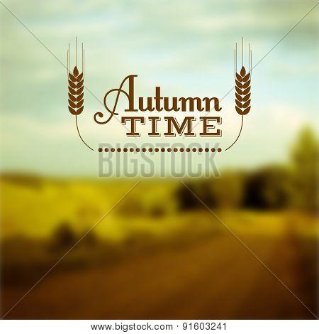 Autumn time vector insignia