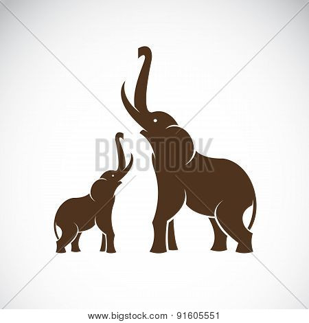 Vector Image Of An Elephant On White Background