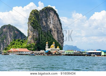 Koh Panyee Or Punyi Island In Summer