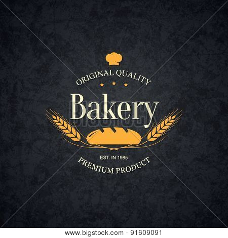 Vintage logotype for bakery and bread shop