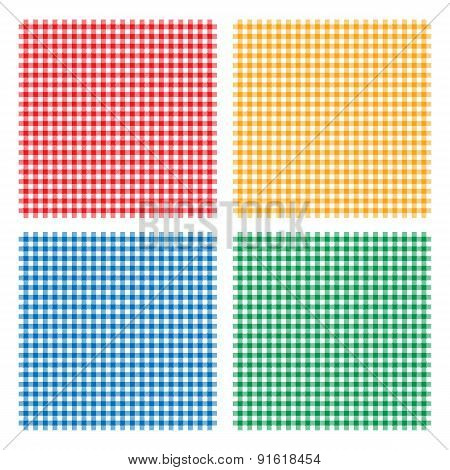 Checkered picnic cooking tablecloth seamless pattern