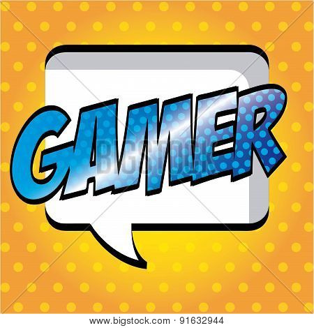 Video game design over yellow background vector illustration