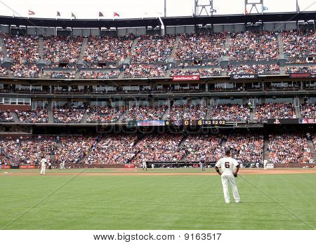 Giants Stand Around As Brewer Takes A Homerun Trot Around The Bases