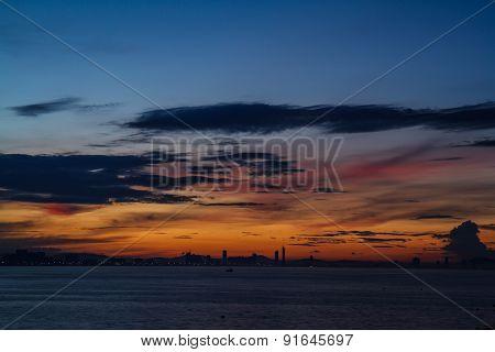 Sunrise On Koh Larn, Pattaya Chonburi Thailand