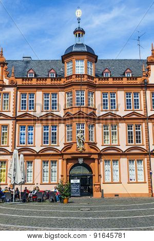 Facade Of Gutenberg House In Mainz