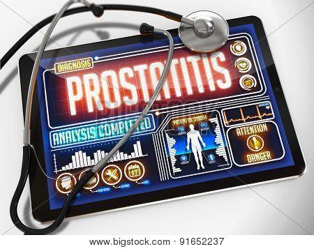 Prostatitis on the Display of Medical Tablet.