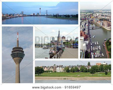 Duesseldorf Landmarks Collage