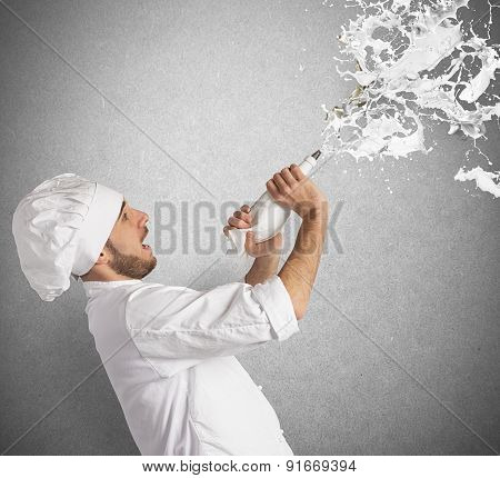 Chef splash cream