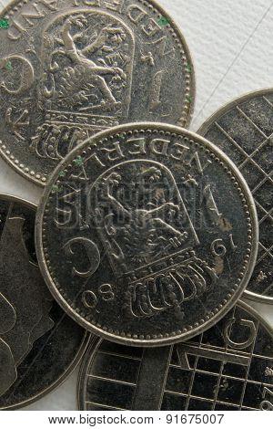 gulden old dutch metal coin