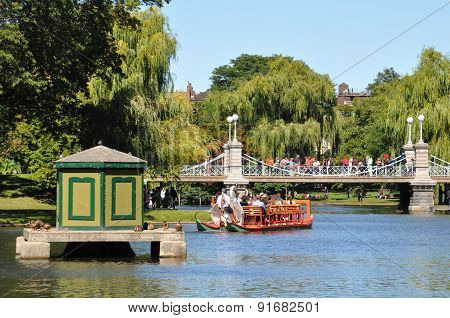 Swan boats at the Public Gardens in Boston