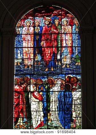 Jesus Christ and his Disciples stained glass window