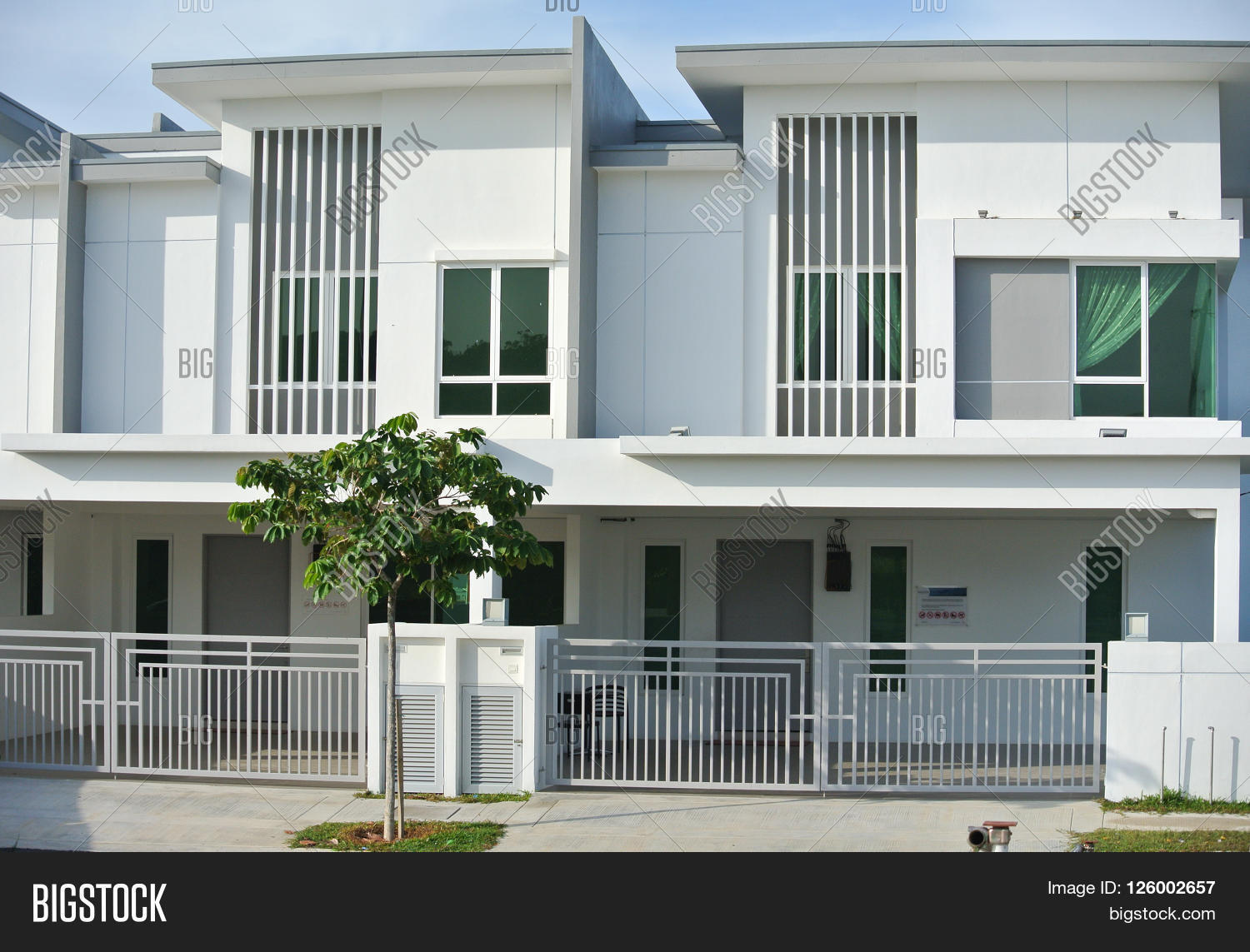 Malacca malaysia january 25 2016 landed and identical new terrace house design in