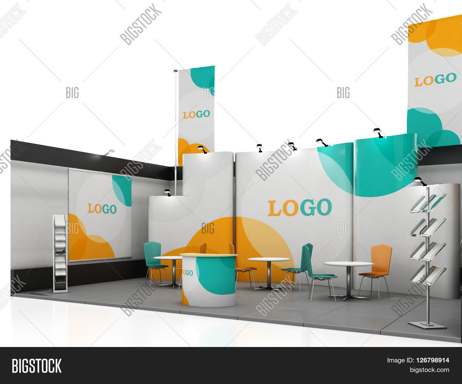 Big Exhibition Stand Design : Blank creative exhibition stand image photo bigstock